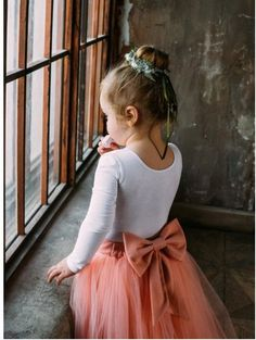 b178e42947a Kids Coppelia Happy Salmon tulle skirt with bow   pink dustyrose tulle skirt  baby girl wedding dress black friday sale cyber week sale