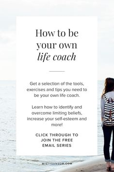 How to Be Your Own Life Coach - 5 Tips in 5 Days free email series! Click through to get started. Life Coaching, Personal Growth, Personal Development, Purpose, Life Purpose, Self Care, Finding Purpose, Passion, Gratitude, Inspiration, Motivation, Meditation, Self Improvement, Goals, Mindset, Journal, Journaling, Intuition, Spiritual, Wisdom, Spirituality, Self Care, Self-Love, Prompts, Ideas, Self Discovery, Free Resources, Self-Help, #lifecoach #personalgrowth #personaldevelopment…