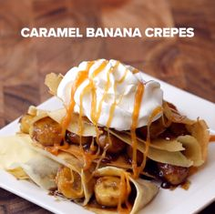 Caramel Banana Crepes