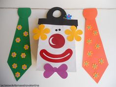 A classe do professor Valentina Clown Crafts, Carnival Crafts, Circus Theme, Circus Party, Kids Fathers Day Crafts, Activities For 1 Year Olds, Diy And Crafts, Crafts For Kids, School Carnival