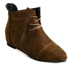 Point Toe Lace Up Flat Boots
