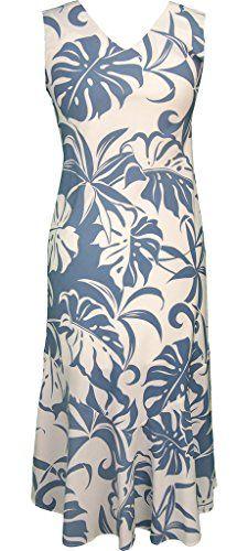 36b652dc69f RJC Women s Beachside Breeze Tea Length Sleeveless Hawaiian Dress at Amazon Women s  Clothing store