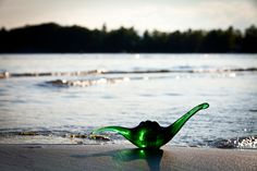 Champ, the Lake Champlain Lake Monster. Find this version of this mythic creature at www.aoglass.com