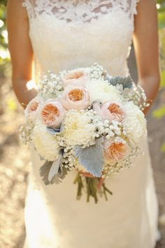 blush grey ivory wedding bouquet utah wedding flowers calie rose