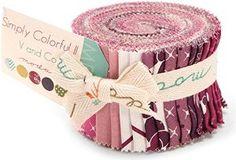 "Moda Simply Colorful II Purple Junior Jelly Roll 2.5"" Precut Cotton Fabric Quilting Strips Assortment V and Co. 20 strips 2.5"" x 44"". https://www.amazon.com/Moda-COLORFUL-Quilting-Assortment-10850JJRP/dp/B013CI42PK/ref=as_sl_pc_as_ss_li_til?tag=serendripple_christmas2016-20&linkCode=w00&linkId=6e17bdad63016d19c4ab8b2ba2488e5a&creativeASIN=B013CI42PK"