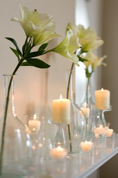 Everything right about clear glass and candlelight.