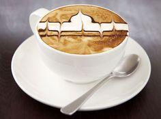 Taj Mahal Coffee Art Design // Creative 3D Coffee Latte Art Pictures, Images & Designs
