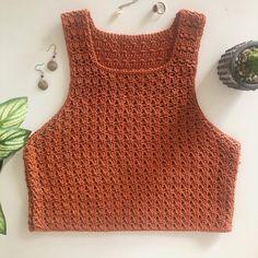 T-shirt Au Crochet, Crochet Mignon, Crochet Shirt, Cute Crochet, Double Crochet, Single Crochet, Crochet Chain, Crotchet, Crochet Halter Tops