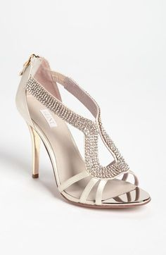 We love this style as a wedding or bridesmaid heel! Glint 'Daryn' Sandal available at #Nordstrom #WellHeeled Be Well Heeled Pin To Win