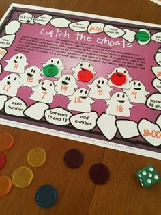 Catch the Ghosts Number Game FREEBIE! Perfect for Halloween math! By Games 4 Learning!