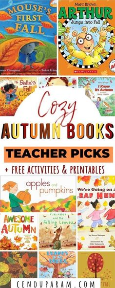 A collection of the best fall books and short stories for kids about autumn with activities and printables. Autumn Activities For Kids, Free Activities, Reading Activities, Toddler Activities, Sensory Kids, Phonics Activities, Everyday Activities, Learning Games, Kids Learning