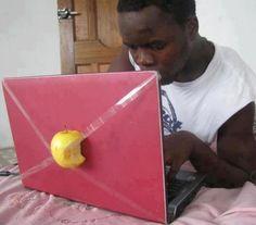 fake apple laptop