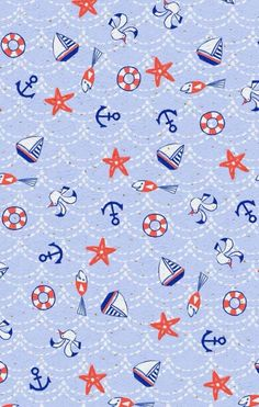 Nautical Wallpaper, Cool Wallpaper, Pattern Wallpaper, Wallpaper Backgrounds, Nautical Background, Nautical Pattern, Anchor Pattern, Nautical Theme, Cellphone Wallpaper