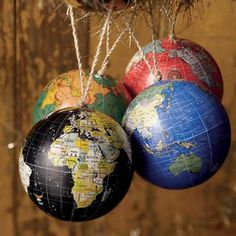LOVE THIS - maybe I can use this for a mobile over the crib!!   Kids Ornaments: Colorful Globe Ornaments in Ornaments