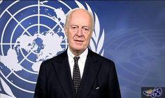 """مبعوث الأمم المتحدة إلى سورية ستافان دي ميستورا يصرح """"نحتاج لإرادة سياسية حقيقية لتفعيل مناطق نزع التوتر في سورية"""""""