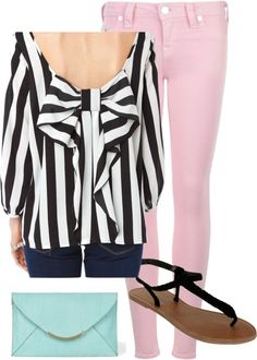 """""""Bow Back"""" by caitlinkennedy on Polyvore"""
