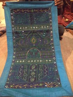 Handcrafted Patchwork Embroidery Art Tapestry Wall Hanging