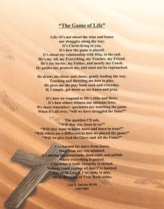My Church Family Poem   ... Original Inspirational Christian Poetry - Poems - The Game Of Life