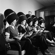 The women come to the salon to catch up on all of their gossip. They are always reading magazines and talking about the recent events.