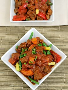 Paleo Caldereta - Filipino Beef and Vegetable Stew - Plated with Style