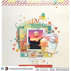 How beautiful is this layout from @maryannmaldonado from our product swap/blog hop with @aflairforbuttons?! #repost from @maryannmaldonado with @repostapp. ・・・ Good morning. Are you ready for the @aflairforbuttons and @simplestories_ blog hop?  I am starting it off today over at the @aflairforbuttons blog. There are huge prizes so please stop by!  #simplestories  #summervibes #aflairforbuttons #flair #layout #scrapbooking