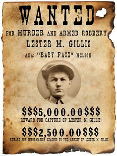 Baby Face Nelson Wanted Poster