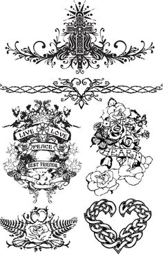 Tattoo templates vector. We have over 10,000+ pictures. All images on the site vectorpicfree.com free for download and ready for print.