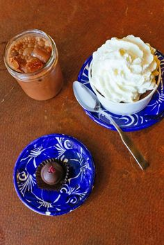 Spicy Aztec chocolate drink, truffles, and hot chocolate