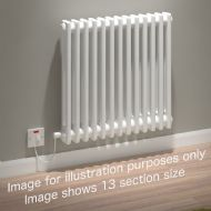 Kudox Evora Electric Column Radiator 2 Column 13 Section x White 600 Watts Tiny Living, Living Spaces, Living Room, Living Area, Electric Radiators, Column Radiators, Narrow House, Flat Ideas, Cabin Interiors