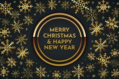 Download Merry Christmas Golden Lettering Background for free