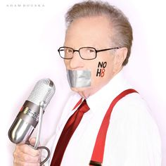 Larry King - TV Host - See more: http://www.noh8campaign.com/photo-gallery/familiar-faces-part-2/photo/...