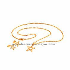 juego de collar y pendientes oro dorado de acero venta online por mayor SSNEG47992
