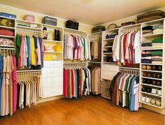 Organized family closet - seriously considering making our master BR closet into a family closet, which is by laundry and the baths everyone uses.