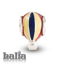 Hot Air Balloon: A breezy striped balloon in enamel on sterling silver: designed exclusively by Halia, this bead fits other popular bead-style charm bracelets as well. Sterling silver, hypo-allergenic and nickel free.       $42.00