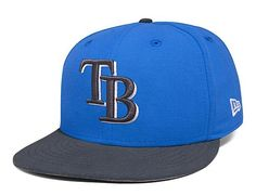 Tampa Bay Rays New Era Basic Snapshot Fitted Hat - Blue Graphite f32e553d05ec