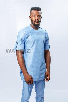 2224b0829e7 Light Blue African Suit African Men Clothing African Men