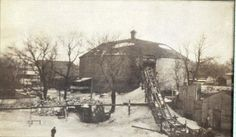 Ice House Museum in Cedar Falls when it was an operating ice house.