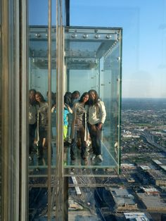Subindo até o topo da Willis Tower (antiga Sears Tower)