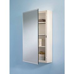 Broan 16'' x 26'' Surface Mount Beveled Edge Medicine Cabinet