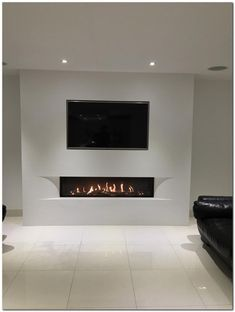 Most modernized and charming TV wall designs. - Most modernized and charming TV wall designs. Living room tv Couch Tulp balanced flue gas fire with - Living Room With Fireplace, New Living Room, Small Living Rooms, Living Room Decor, Fireplace Tv Wall, Modern Fireplace, Fireplace Design, Fireplace Ideas, Fireplace Furniture