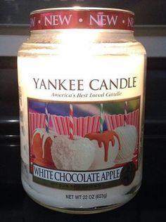 Yankee Large Jar White Chocolate Apple Candle
