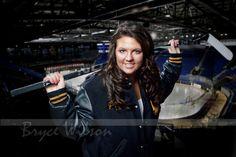 Female Hockey Senior Portrait | Pretty High School Senior po… | Flickr