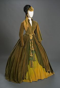 Photo Credit: Photo by Pete Smith. Image courtesy Harry Ransom Center. The conserved green curtain dress and hat worn by Vivien Leigh as Scarlett O'Hara.
