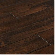 BuildDirect®: Lamton 12mm Handscraped Muskoka Collection ~ love dark wood floors, this will be all through my house :)