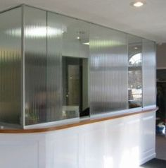 Reception Counter With 2013 Sliding Screen Reception