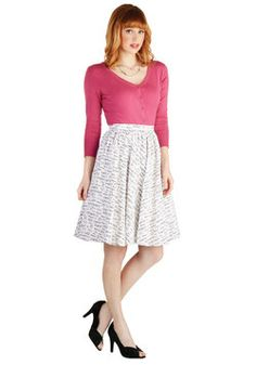 Language of Loveliness Skirt, #ModCloth