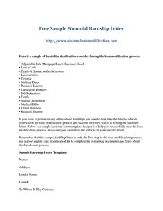 Effective Hardship Letter For Loan Modification Word Doc