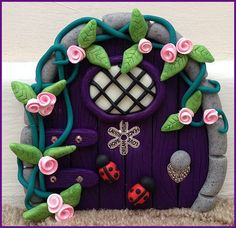 Purple Dream Fairy Door made to order by MistsofAzura on Etsy, £15.00