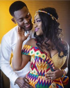 39 Latest African Kente Styles Attires For Wedding Parties African Print Wedding Dress, African Wedding Attire, African Attire, African Wear, African Dress, African Weddings, African Inspired Fashion, African Print Fashion, African Fashion Dresses