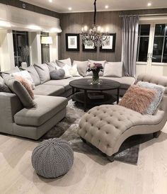 [New] The 10 Best Home Decor Today (with Pictures) - Living Room inspo Sectional sofas coffee tables and accent chairs - - - - - - - - - - - Living Room Decor Cozy, Home Living Room, Apartment Living, Interior Design Living Room, Living Room Designs, Bedroom Decor, Living Room Ideas, Bedroom Furniture, Living Room Goals